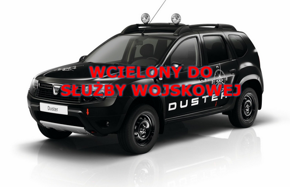 Dacia Duster wcielona do wojska